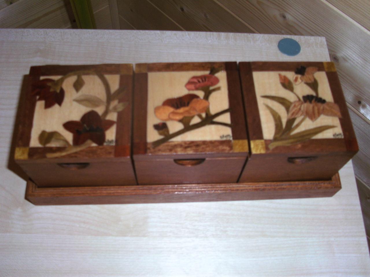 Set de trois boites