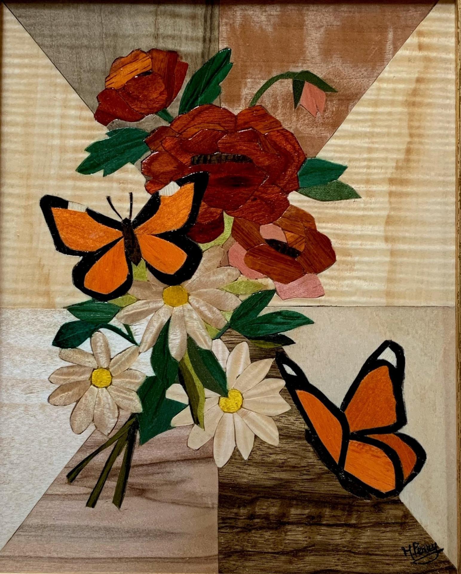 Tableau les papillons